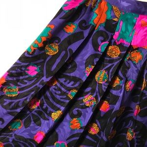Vintage Silk Mini Skirt